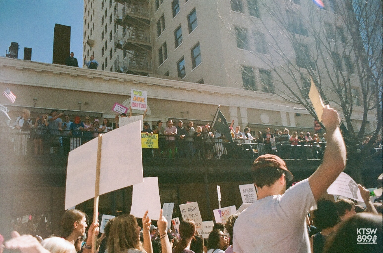 We are united. (Women's March; 35mm Film)