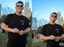 """I saw this man, Tim Thetford, in the crowd and asked him what inspired him to make that shirt. He replied, """"cause he is"""" with laughter. (One Resistance; Digital)"""