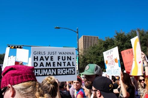Girls just wanna have fun-damental human rights. (Women's March; Digital)
