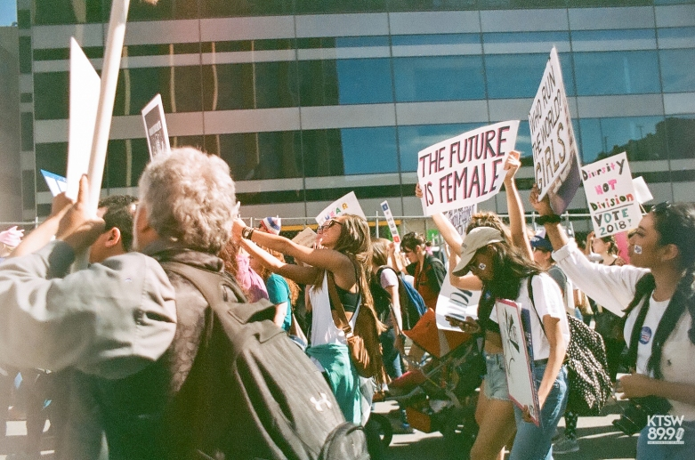 Who run the world? Girls. (Women's March; 35mm Film)