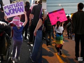 Future Women. (left: Women's March; Digital) (right: One Resistance; Digital)