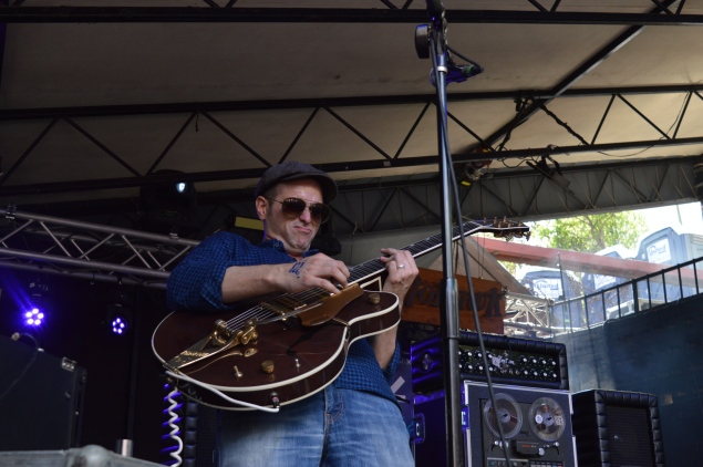 'The Midnight Stroll guitarist Jonas Wilson knows he kills it on guitar.