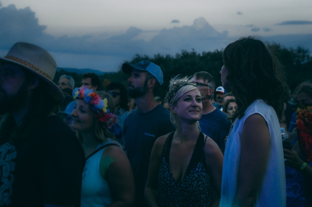 I snapped this picture because I liked her headband. Little did I know that later that night I would run into her and her headband again inside a small tent where we enjoyed some tea.