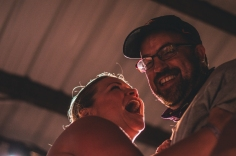 """An unexpected surprise took stage during Wild Child's set. Moments before I snapped this photo, I received a tap on my shoulder. """"Excuse me, can I get by,"""" a man said. """"My buddy is about to get engaged."""""""