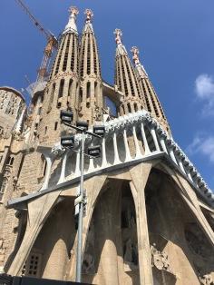 The Sagrada Familia, which is still under construction.