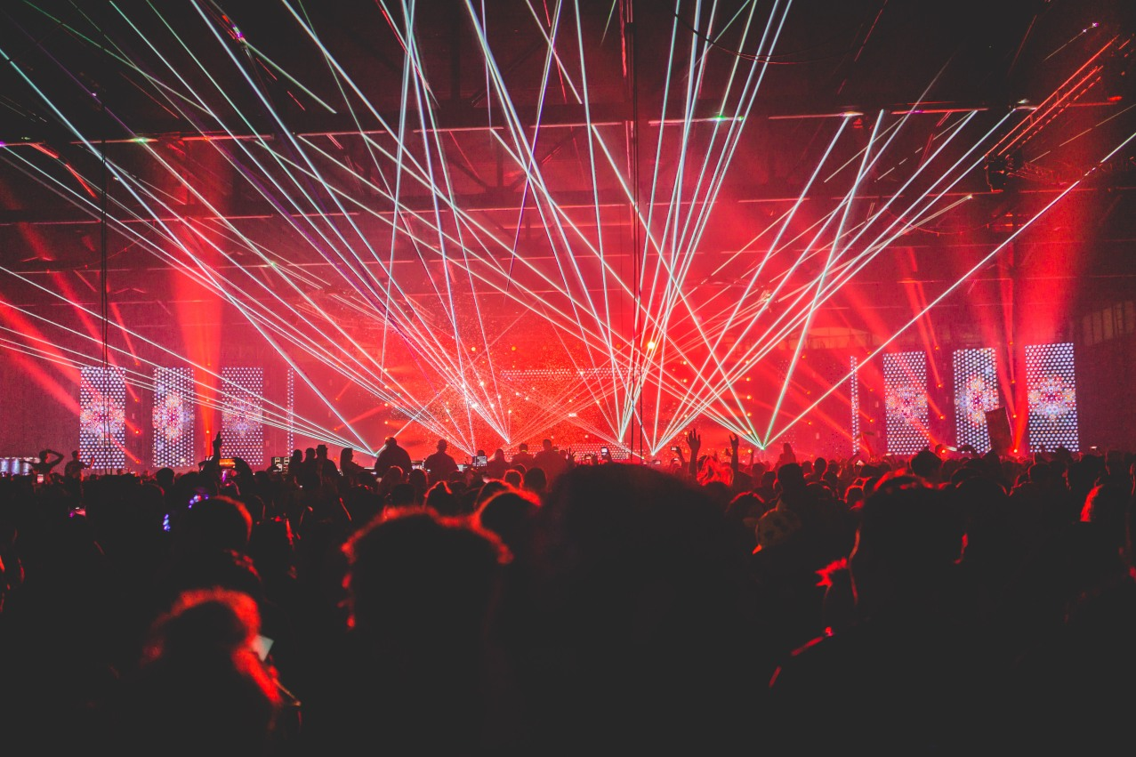 No EDM festival is complete without lasers glowing high above the crowd.
