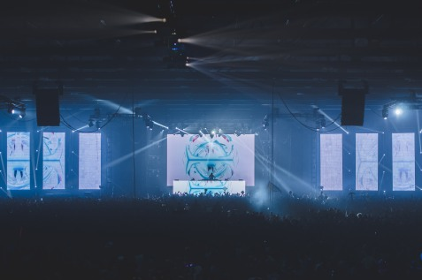 Another California-native Seven Lions takes the stage on December 30, 2017 to a packed crowd inside the Dallas Market Hall in Dallas, Texas.