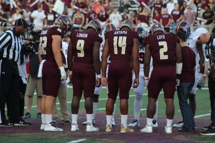 Texas State in 2018 will only go as far as the leaders they hope will blossom; Photo Credited to Justin Manor