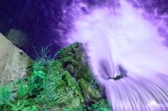 A purple waterfall.