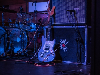 Yerger's guitar represents his eclectic as his personality well.