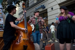It was this band's first time performing on the street during SXSW.