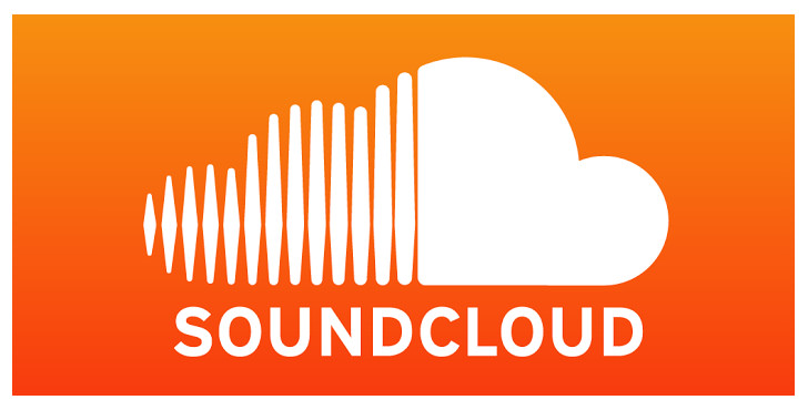 The SoundCloud logo, a white cloud on an orange gradient background.