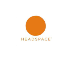 This is the logo for the meditation app Headspace.