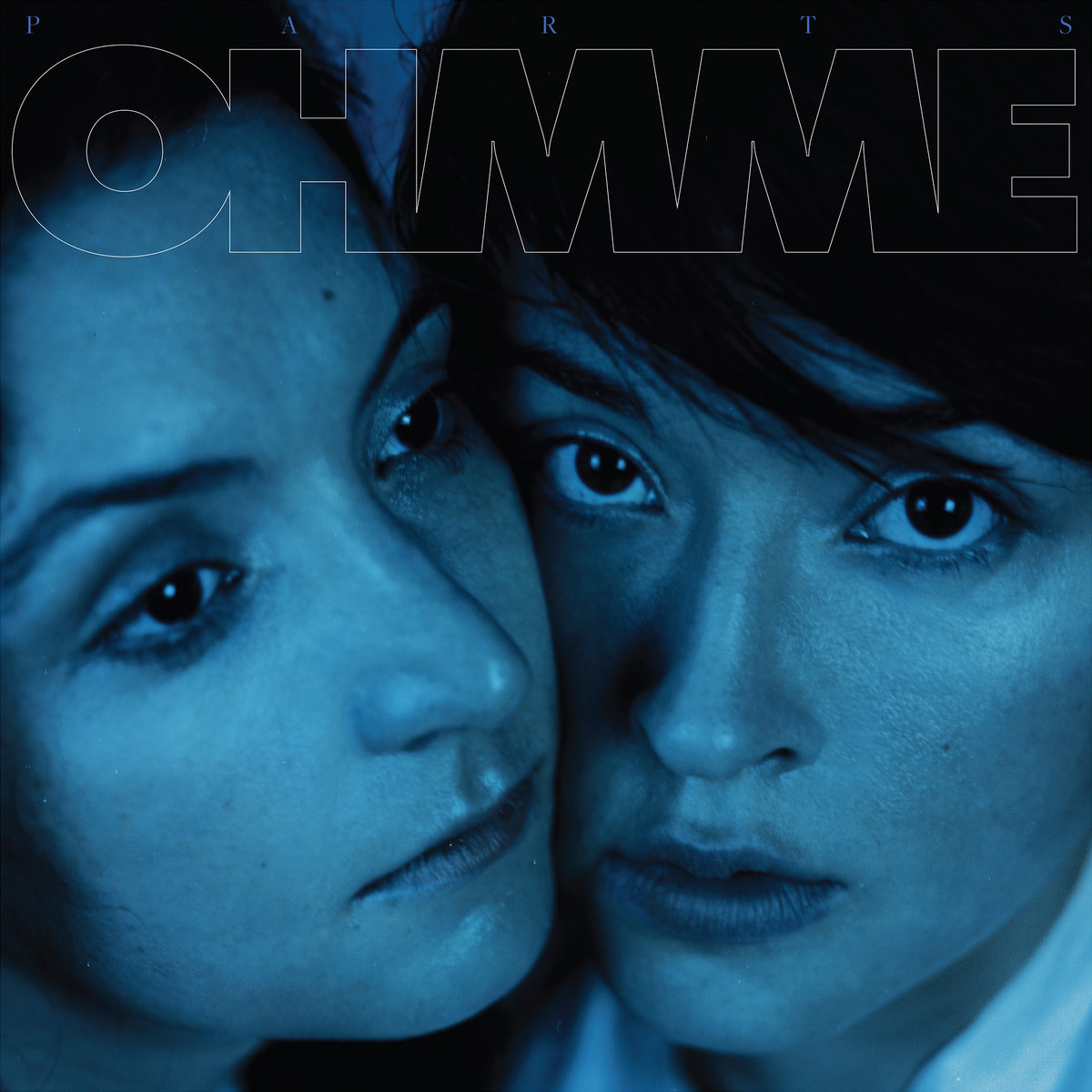 Sima Cunningham and Macie Stewart on the cover of their debut full-length album Parts