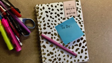 A planner and to-do list.