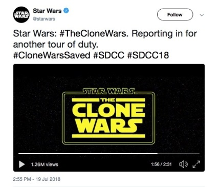 Star Wars: The Clone Wars. Reporting in for another tour of duty.