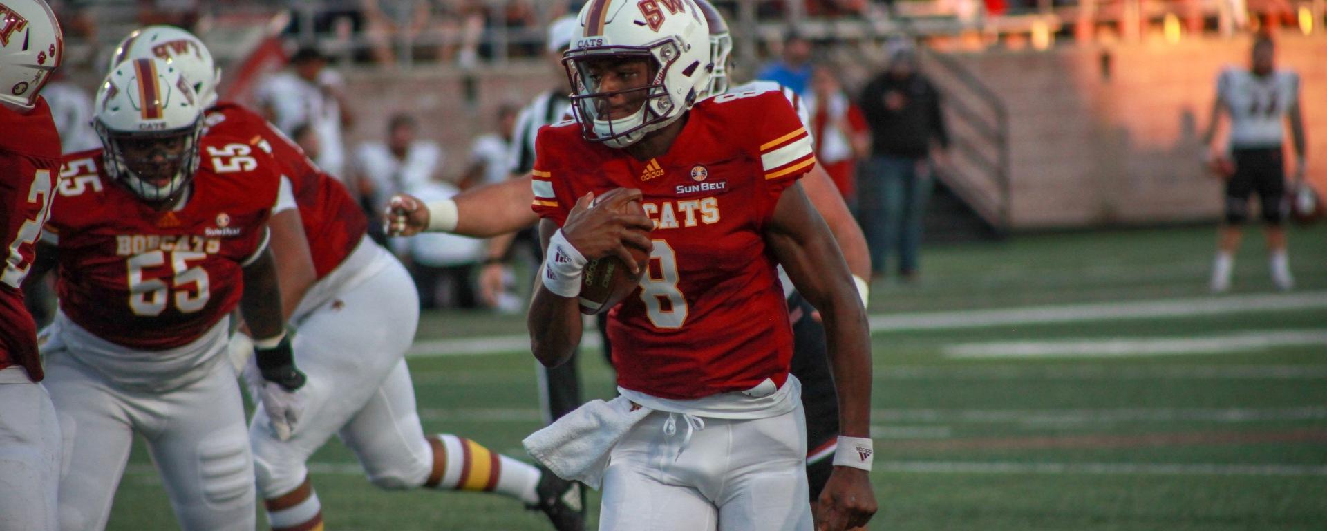 Willie Jones III breaks away from the New Mexico defense.