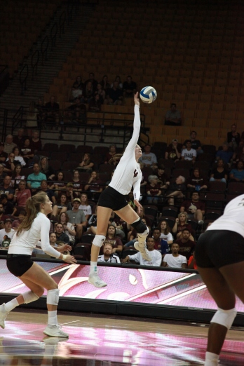 The outside hitter registered her second 10+ kill performance in conference play this season