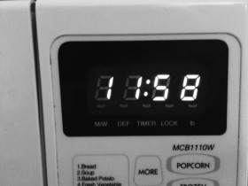 A microwave time clock