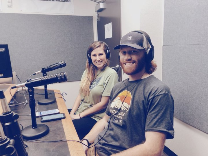 Danielle Cordani and Jacob Rogers in KTSW studio