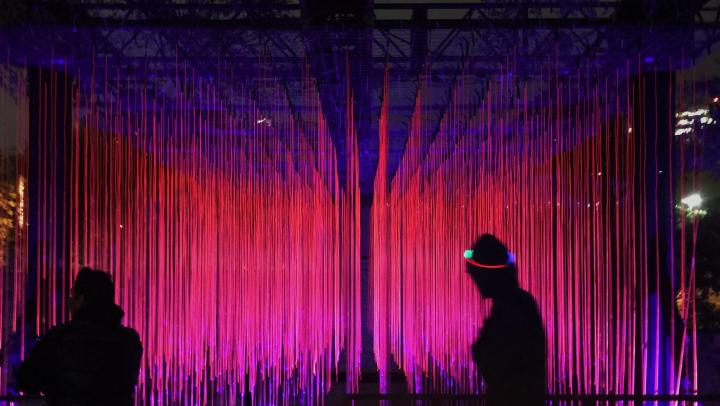 An installation from the Waller Creek Exhibit