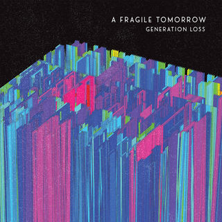 A Fragile Tomorrow's upcoming album cover is decorated by a intricate geometric figure colored with bright neon blues, greens, and reds.