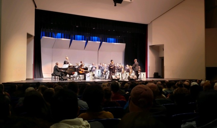 The Count Basie Orchestra performing at Evans Auditorium at Texas State University.