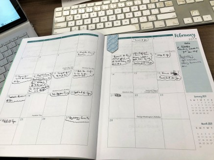 monthly calendar layout with due dates filled in for the month