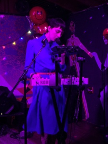 Sydney Harding-Sloan playing synth