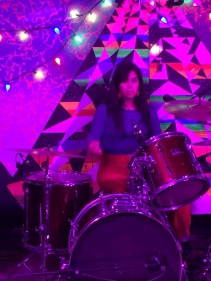Gaby Rodriguez playing drums