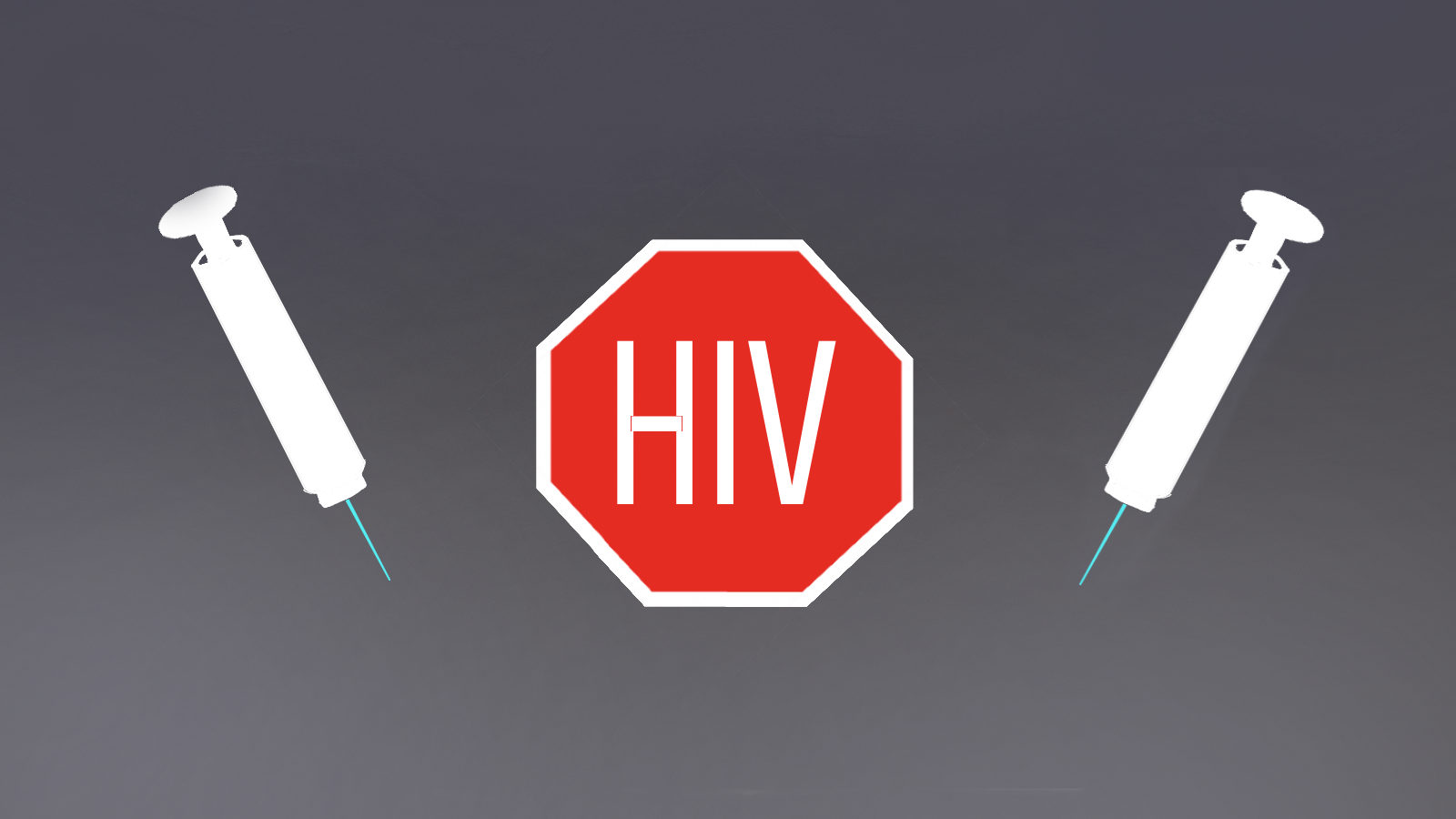 A stop sign with the acronym HIV in the middle.