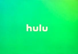 Green screen with the hulu video logo