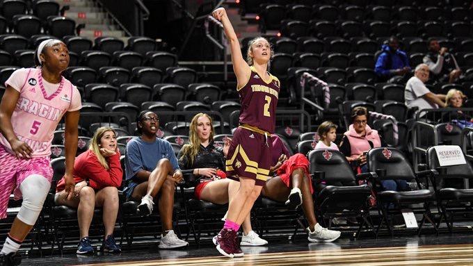 Senior Toshua Leavitt shoots three against Louisiana