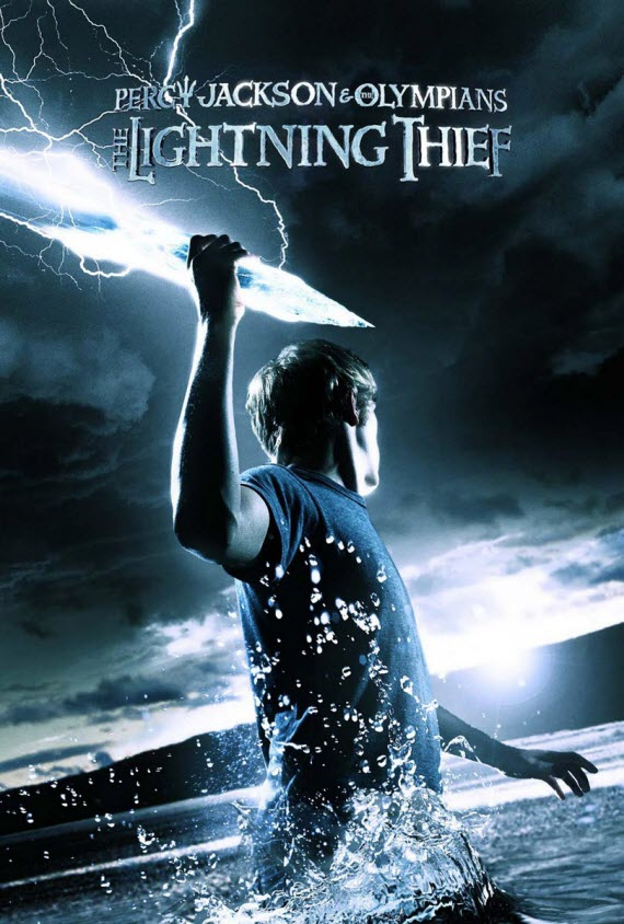 a poster of The Lightning Thief book taken from Flick