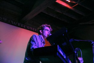 Alexander playing the keyboard as the opening act at Wednesday night at Mohawk