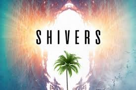 "water and palm tree on album cover ""Shivers"" by MindMassage"