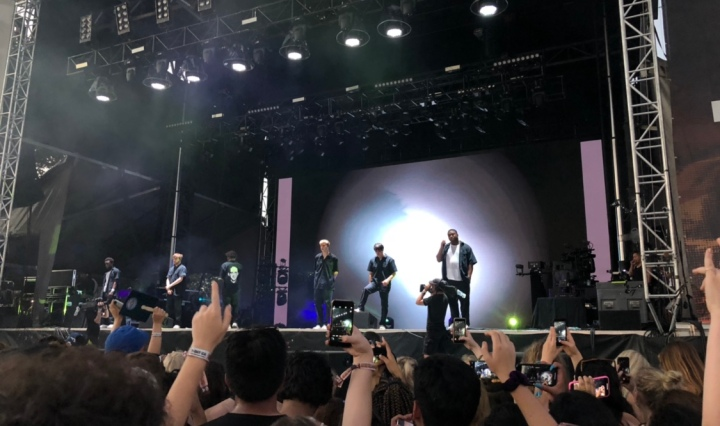BROCKHAMPTON performing at the 2018 Austin City Limits.