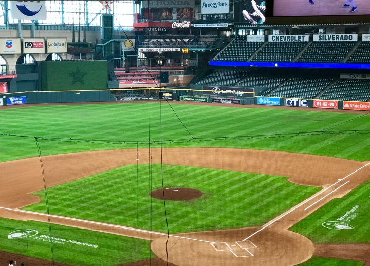 Baseball field at Minute Maid Park