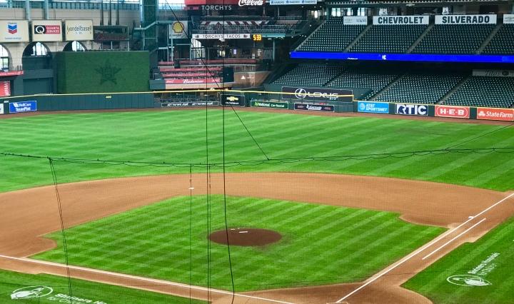 Baseball field at Minute Maid Park