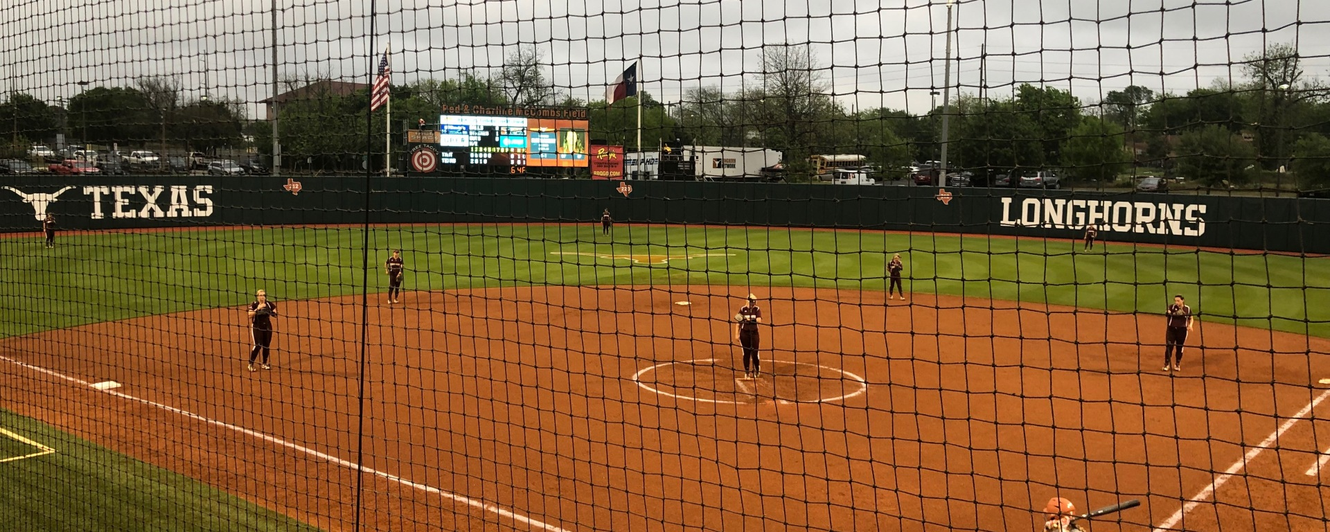 Texas State softball gets in position to play.