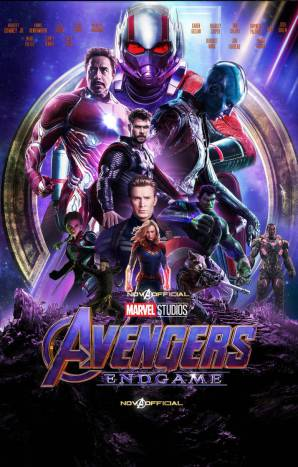 Promotional poster for Avengers: Endgame with all of the cast highlighted.