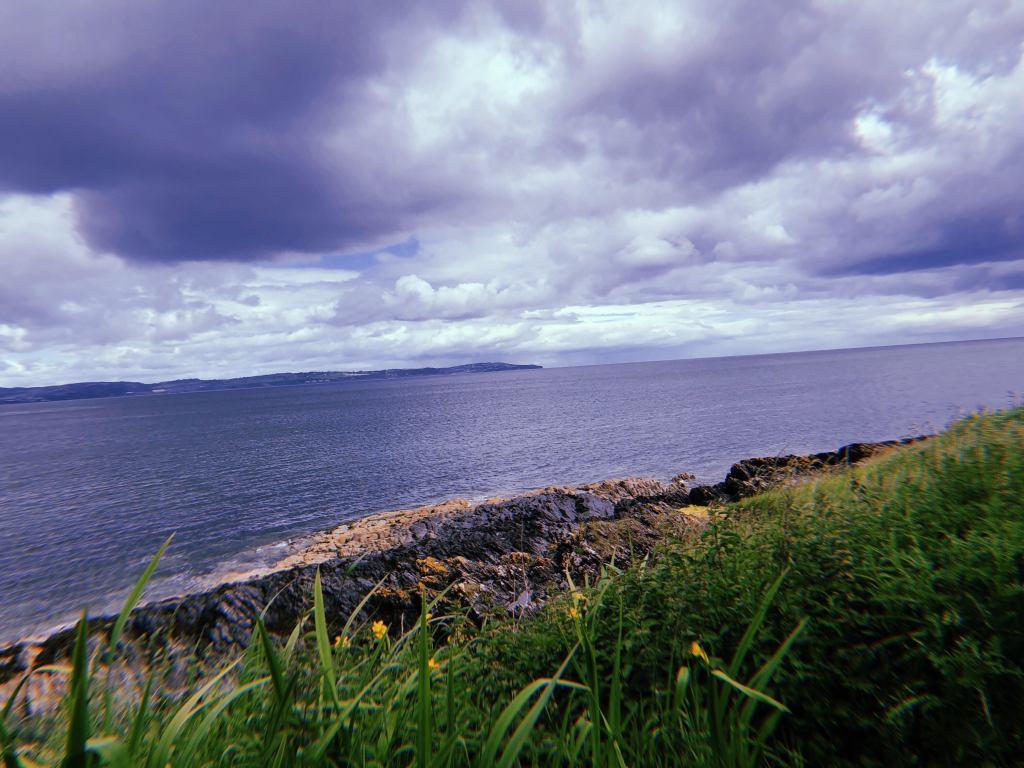 The coastline of Crawfordsburn Country Park, a seaside village in Crawfordsburn, County Down.