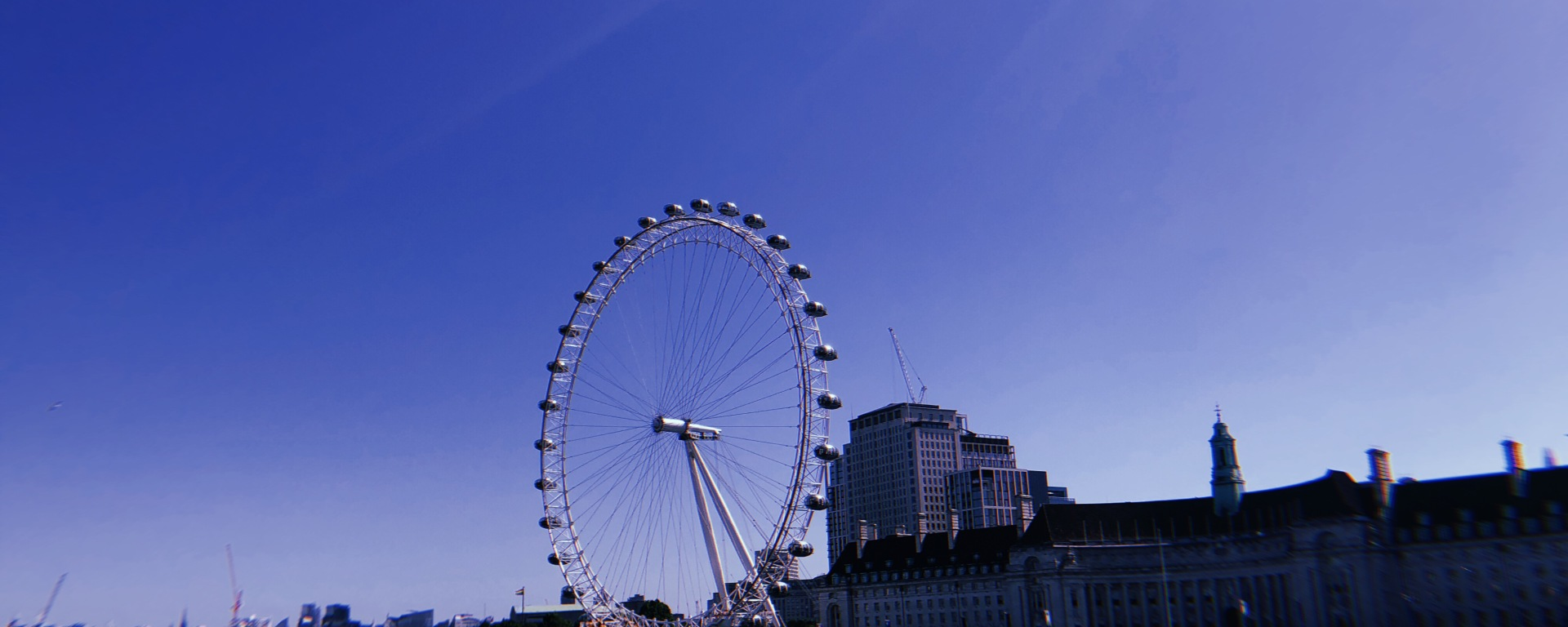 One of London's many tourist hotspots, the London Eye.