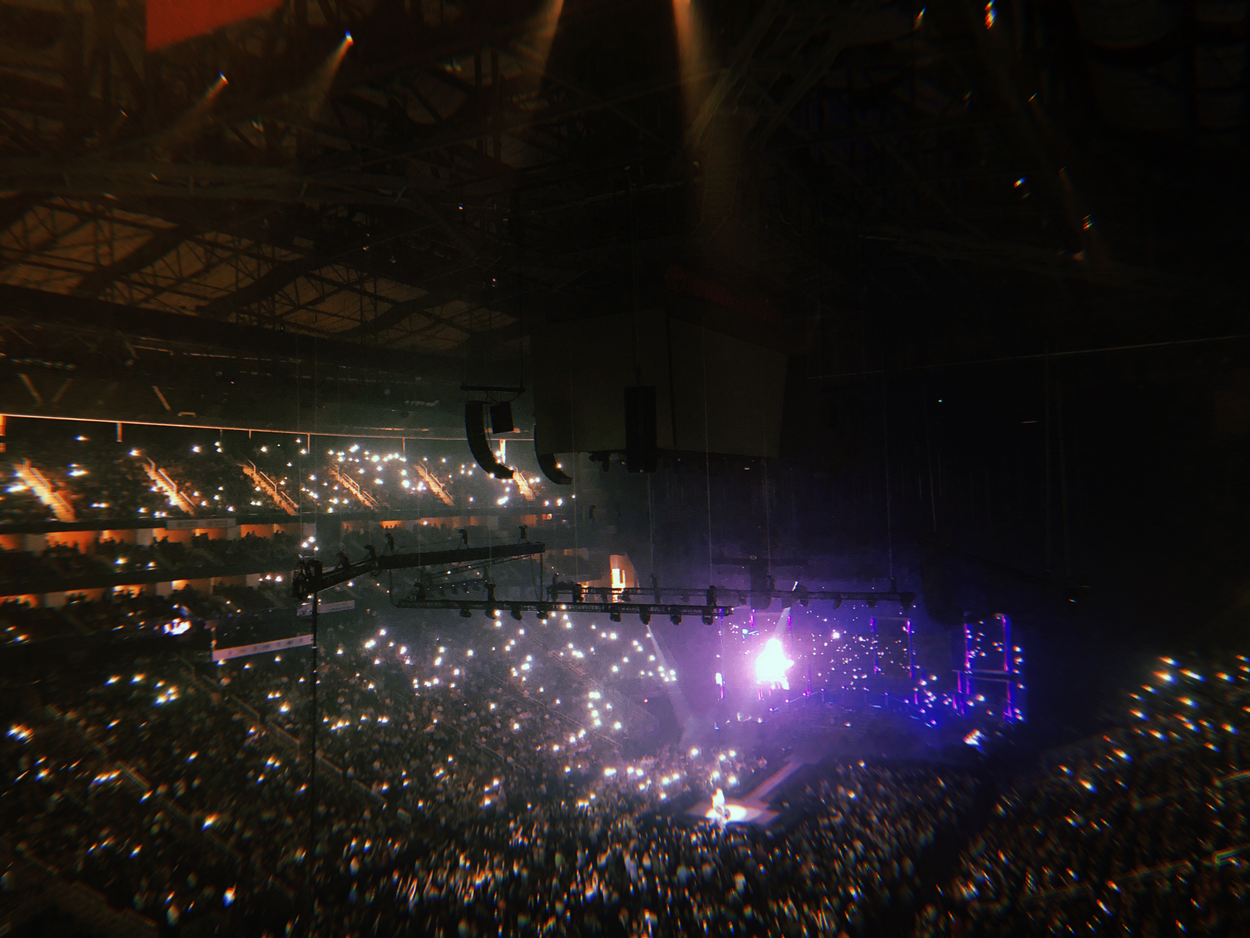 "A sea of lighters and phone lights during ""Love Of My Life."""