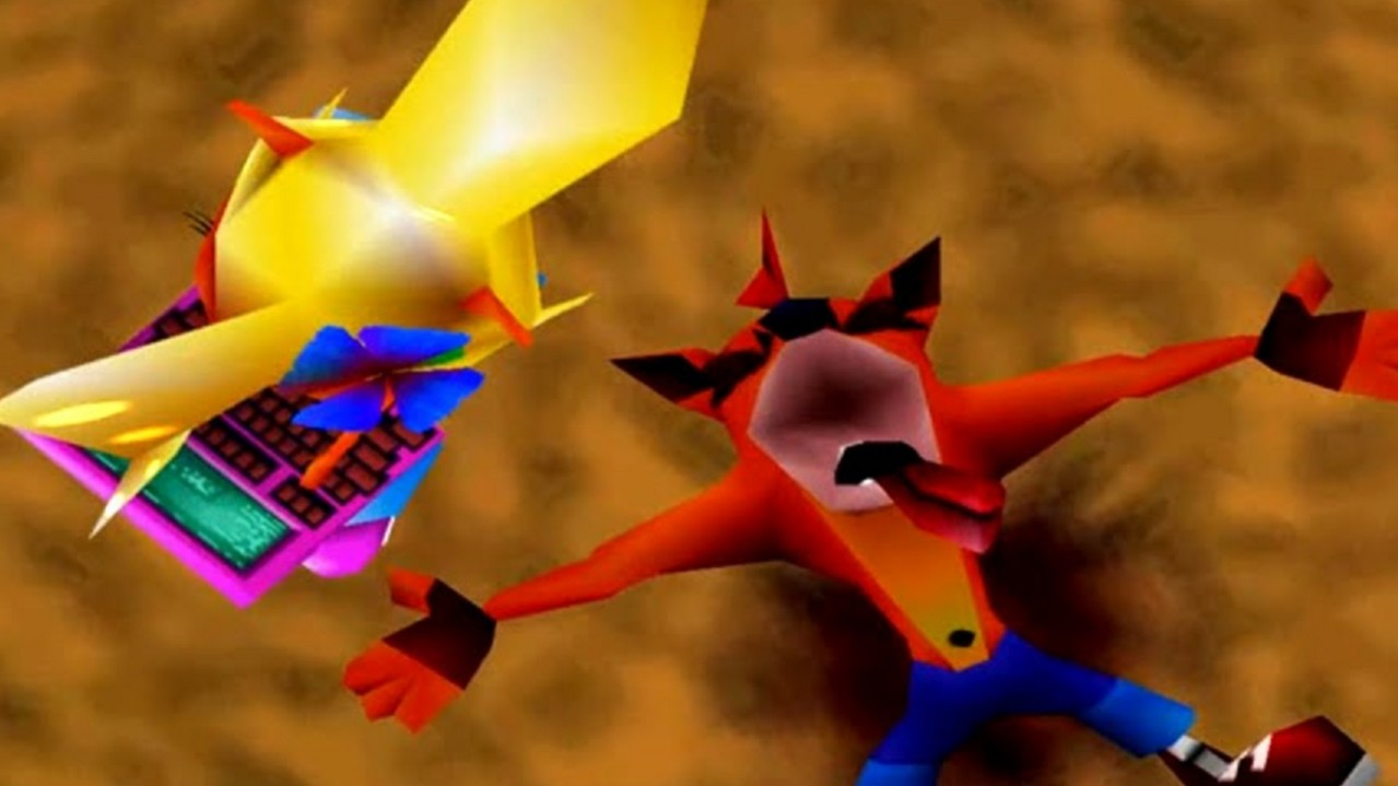 Crash and Coco from Crash Bandicoot 2: Cortex Strikes Back.