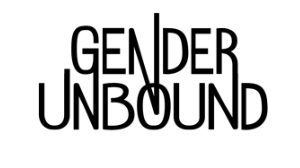 white background with black letters that read Gender Unbound