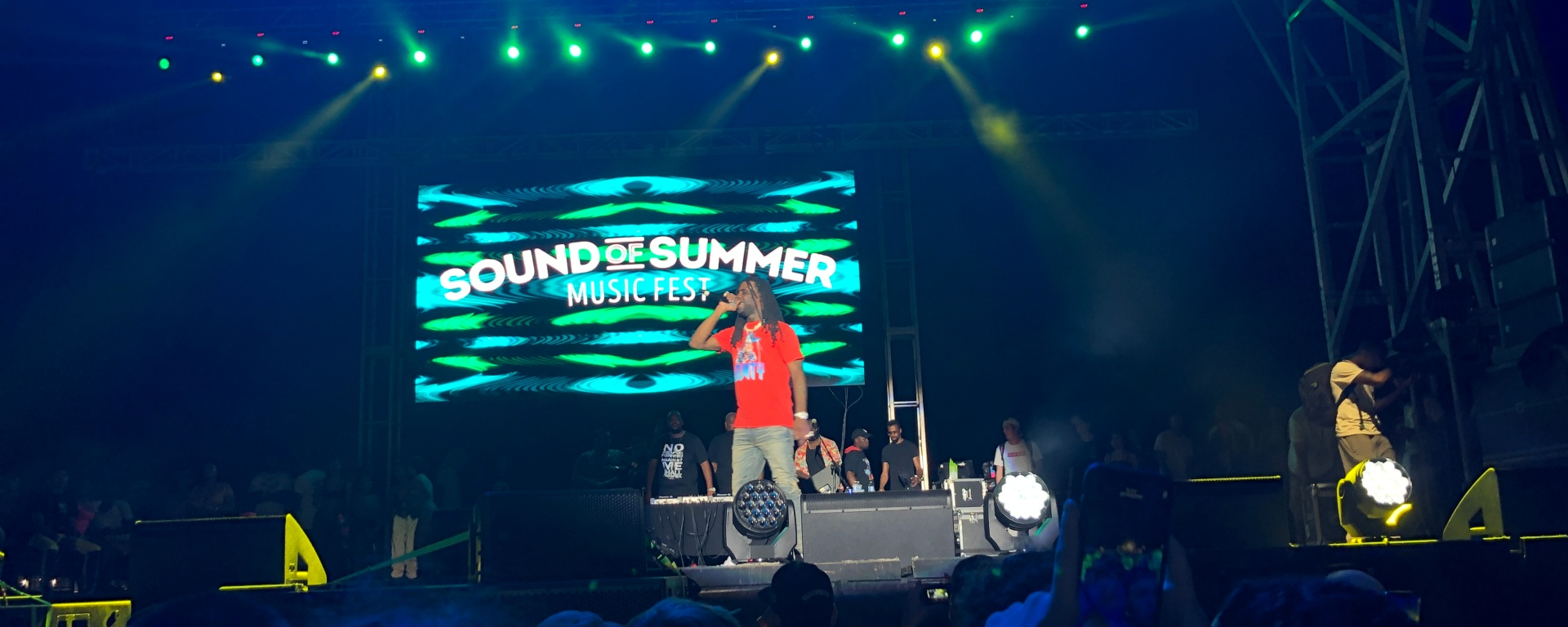 Chief Keef performing on Sound of Summer Fest in San Antonio.
