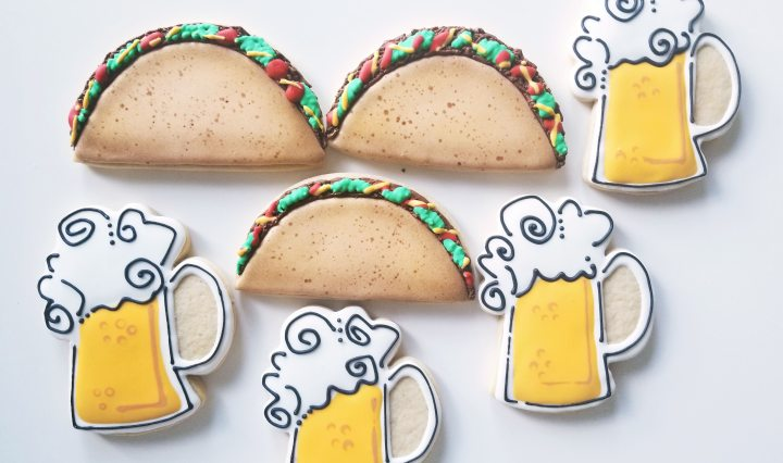 Tacos and beer illustration