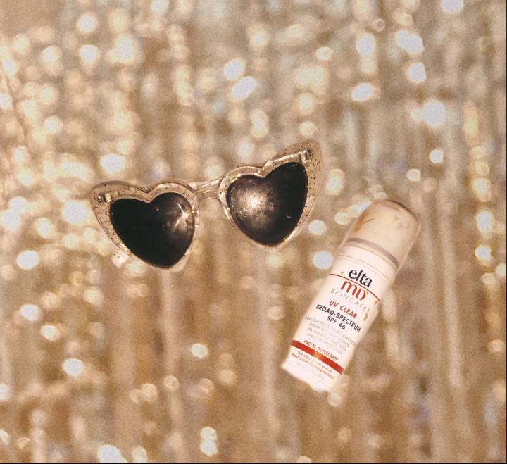 Sunglasses, Sun Screen, Gold, Sparkly