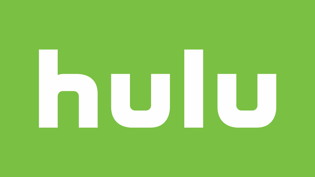 The Hulu logo with white letters with a green background.
